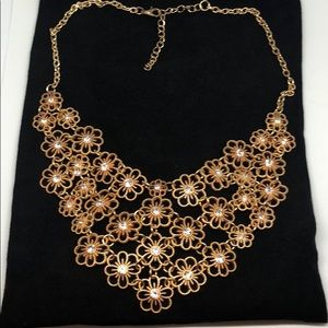 Francesca Gold Petals Layered Necklace